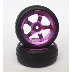 Ruedas Coche RC Touring 1/10 Llanta Aluminio Purpura