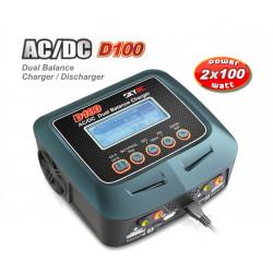 Cargador D100 Dual AC/DC y Descargador