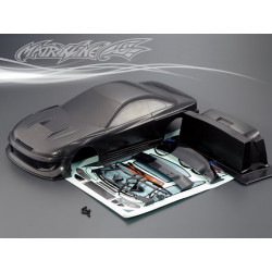 Carrocería Nissan GP Sports S15 Silvia Black Pintada con Pegatinas