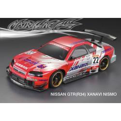 Carrocería Nissan GTR Xanavi Nismo con Faros Pintada con Pegatinas
