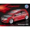 Carrocería Volkswagen GTI Transparente con Pegatinas
