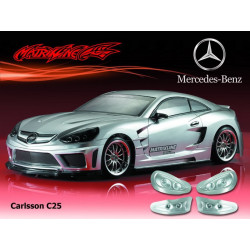 Carrocería Mercedes Benz Carlsson C25 Transparente con Pegatinas