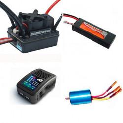 Combo Motor-Variador Brushless Batería 7.4V-Cargador Lipo