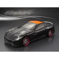Carrocería Ferrari 599XX Pintada de Carbono con Pegatinas