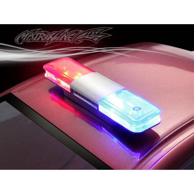 Set Luces Policia 2 Leds con Controladora