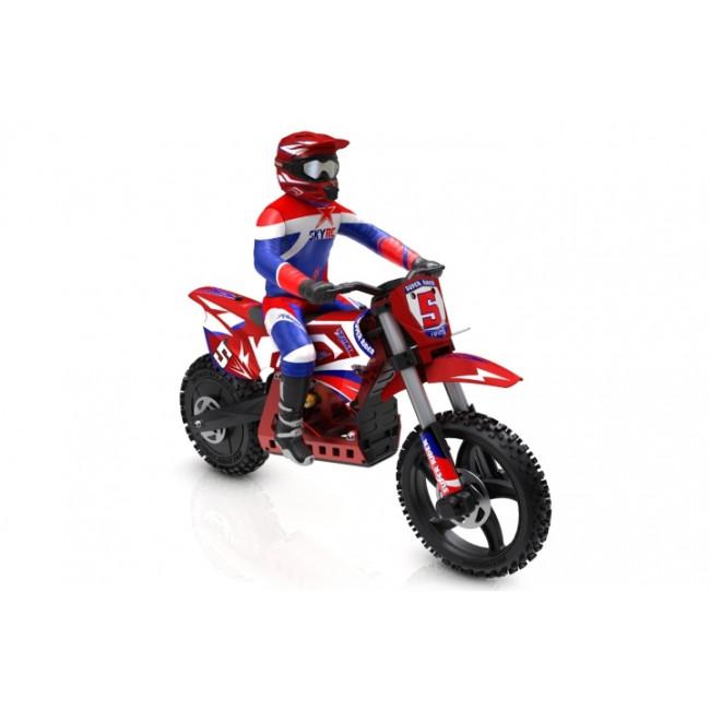 MOTO RC DIRT BIKE RS5 CON MOTOR BRUSHLESS COMPLETA
