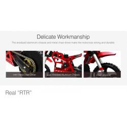 MOTO RC DIRT BIKE SR5 SKYRC CON MOTOR BRUSHLESS COMPLETA