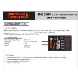 RECEPTOR 6CH FASST COMPATIBLE FUTABA (HV)