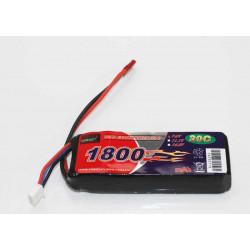 BATERIA LIPO 7.4V 1800MHA 20C (16X35X88MM) C/BEC