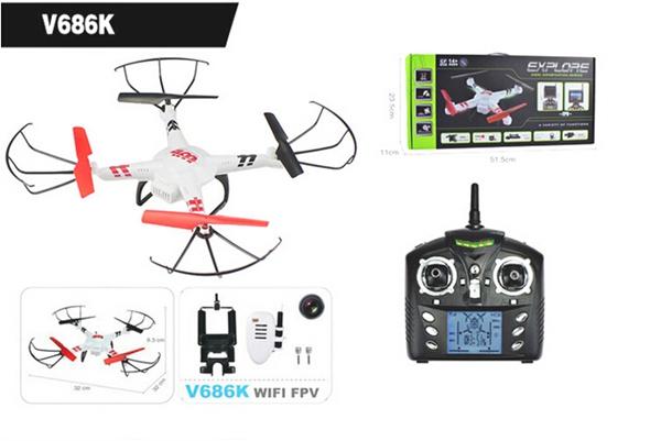 Drone con cámara V686 de WLToys